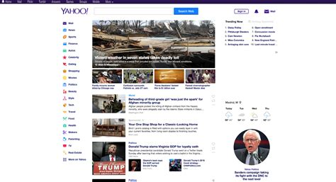yahoo new layout yahoo testing new design for home page
