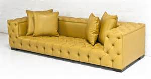 Gold Leather Sofa Www Roomservicestore Tufted Boy Sofa In Gold Faux Leather