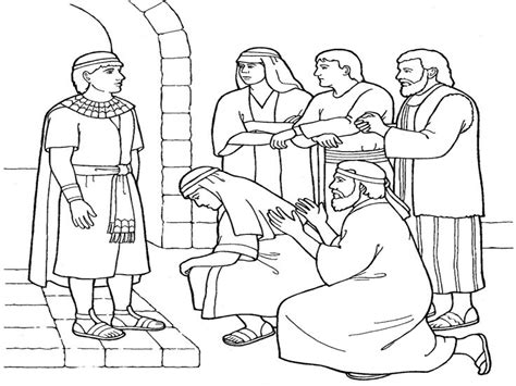 joseph forgives his brothers coloring page bible
