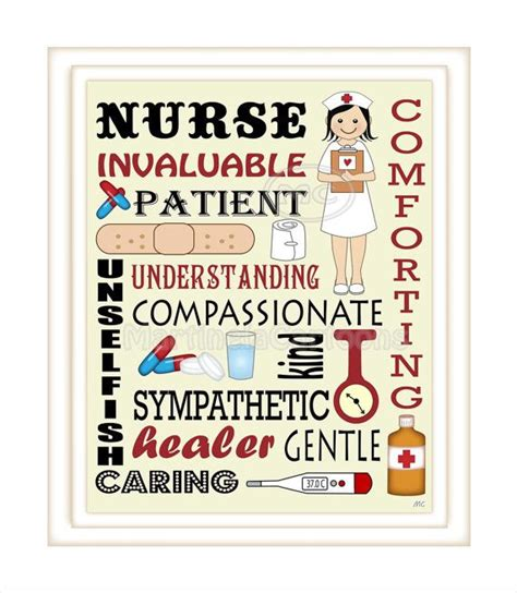 free printable nursing quotes nurse subway art custom nurse gift or instant download