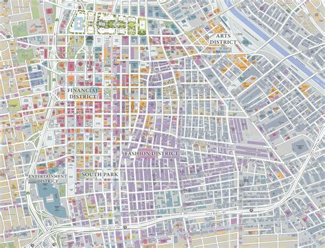 downtown map downtown los angeles map pdf indiana map
