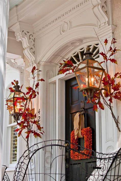 Autumn Front Door Decorations 67 And Inviting Fall Front Door D 233 Cor Ideas Digsdigs