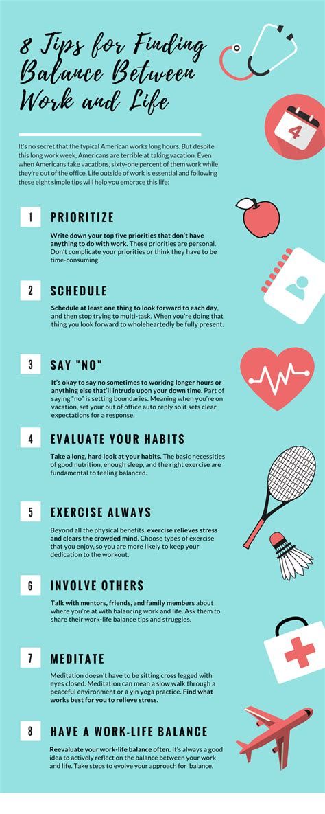 8 Tips For by Infographic 8 Tips For Finding Balance Between Work And