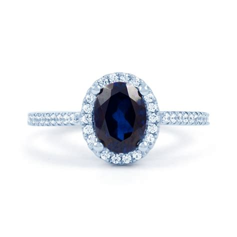 blue sapphire engagement ring sapphire engagement rings - Blue Engagement Rings