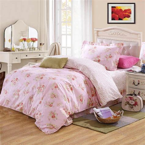 pink flower comforter girls beauty pink flower 100 cotton bedding bedclothes
