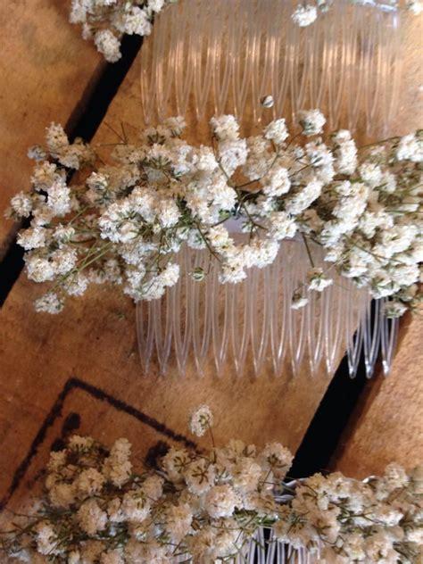 wedding hair with gypsophila dried gypsophila baby s breath hair comb slide