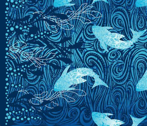 Design Batik Kontemporari | batik shark panel fabric cjldesigns spoonflower