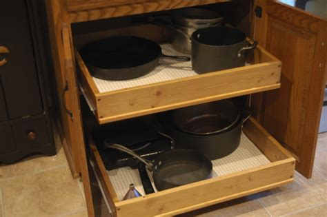 Pull Out Drawers For Kitchen Cabinets | ana white pull out cabinet drawers diy projects