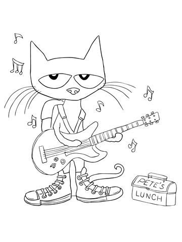 reading rocks coloring page pete the cat rocking in my school shoes coloring page