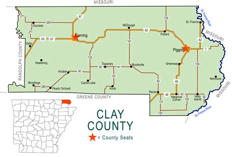 Clay County Search Alf Img Showing Gt Clay Co Ar Map