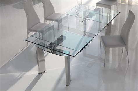 practical expandable glass dining table home design