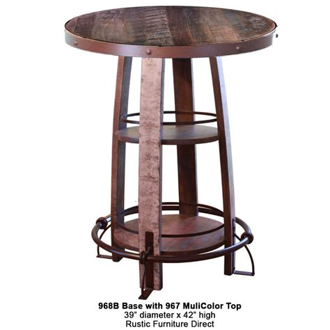 Rustic Bar Table 968 Pub Table With Multi Color Top