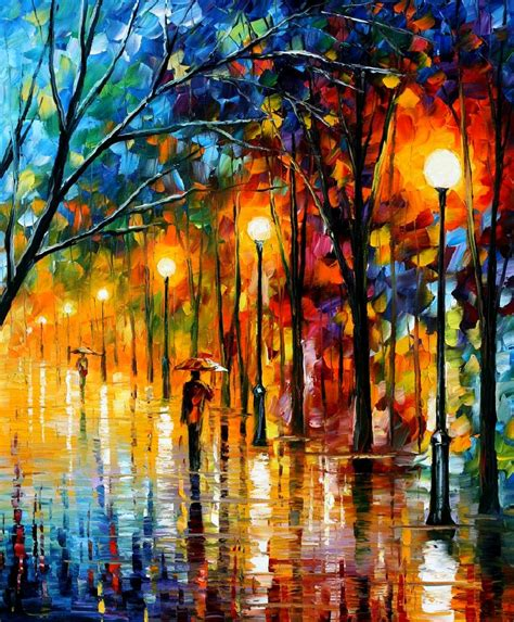 the colors of winter palette knife painting on canvas by leonid afremov size 36 quot x30 quot
