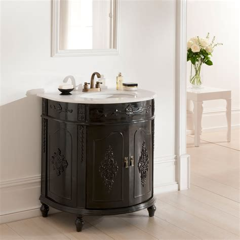 black antique style vanity unit