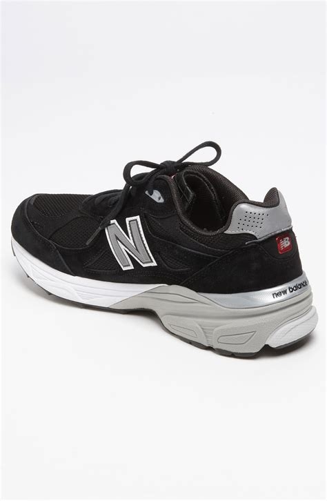 new balance 990 running shoe new balance 990 running shoe in black for lyst