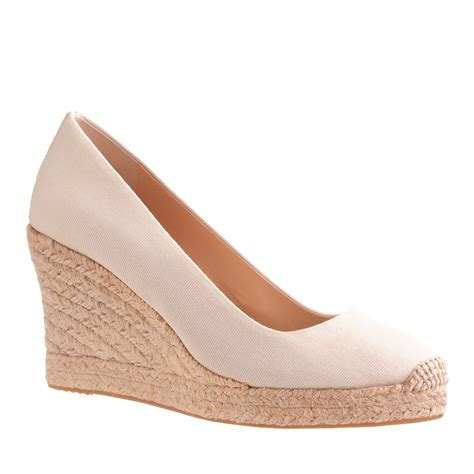 shoe wedges for j crew seville espadrille wedges in beige vintage