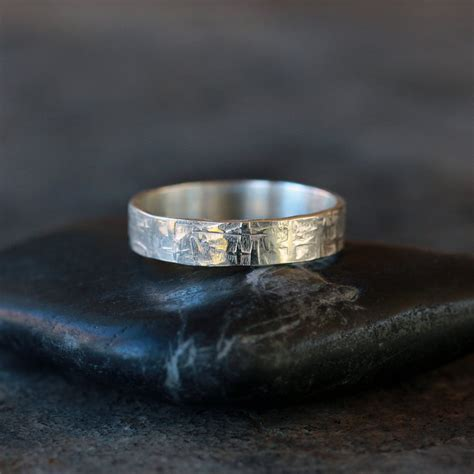 Handmade Mens Ring - viking ring sterling silver s wedding band hammered