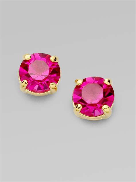 Kate Spade Earing 0oru1624 lyst kate spade new york faceted stud earrings in pink