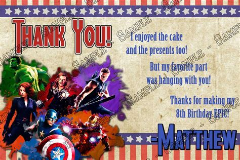 avengers printable thank you cards novel concept designs avengers movie birthday thank you