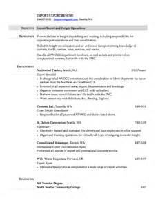 import export resume sles resumes design