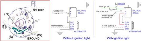 alternator wiring diagram external regulator 44 wiring