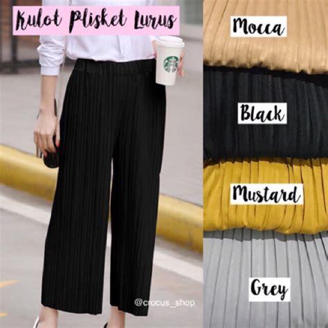 Kulot Plisket Premium By Conba Id celana kulot plisket lurus shopee indonesia