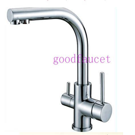 Water Filter For Kitchen Faucet Brand New Kitchen Sink Faucet Tap Water Filter Mixer Dual Handles Chrome In Kitchen Faucets