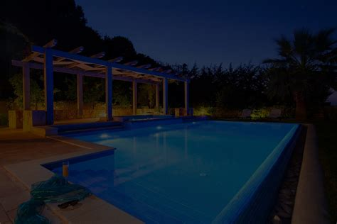 outdoor pool lighting contractor uses better switches and their customers love