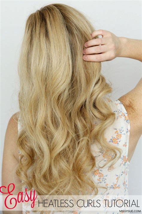 heatless hairstyles tutorials sharing the perfect haircare cocktail for creating easy