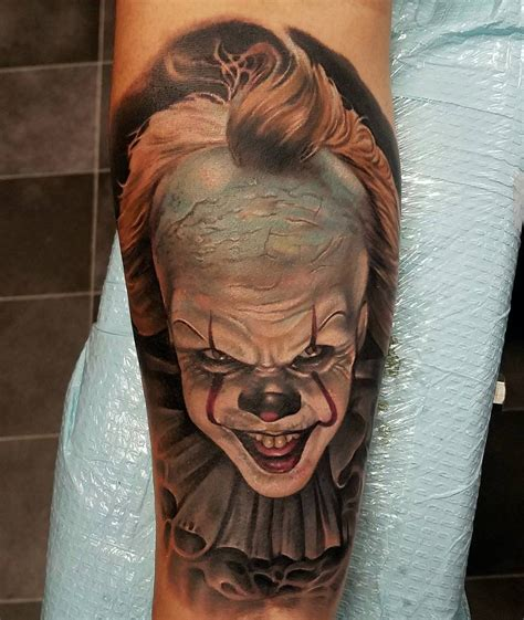 pennywise tattoo pennywise clown by rodney eckenberger best