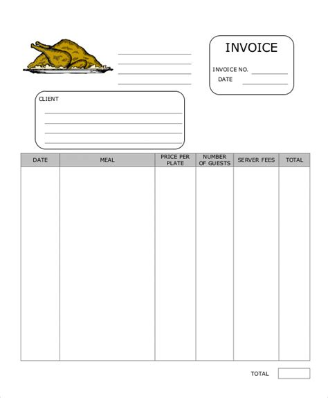 Catering Invoice Templates 8 Free Word Pdf Format Download Free Premium Templates Free Catering Invoice Template Word