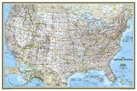 united states of america usa large wall map poster united states of america ngs buy wall map of united