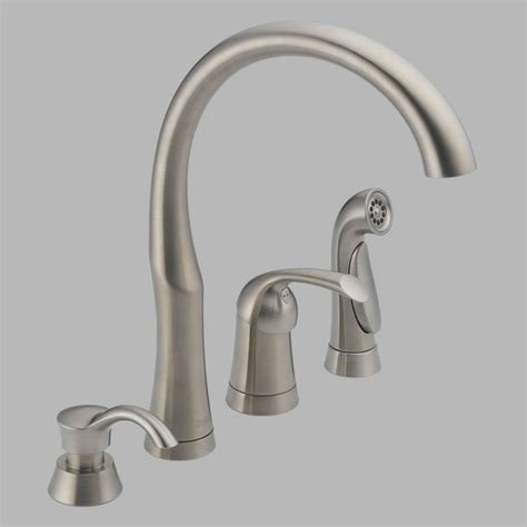 delta bellini kitchen faucet delta bellini 11946 sssd dst single handle kitchen faucet with side spray and so