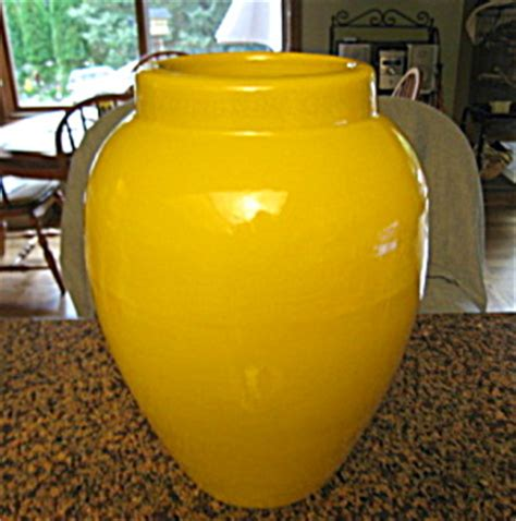 Yellow Floor Vase by Yellow Vintage Floor Vase Jar Zanesville Stoneware Co