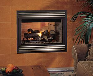 see through gas log fireplace fireplaces