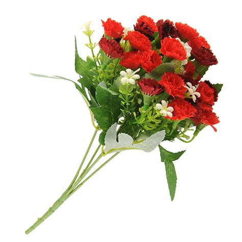 Artificial Flowers For Garden 25 Heads Artificial Carnation Flower Home Garden Bridal Decor Ebay