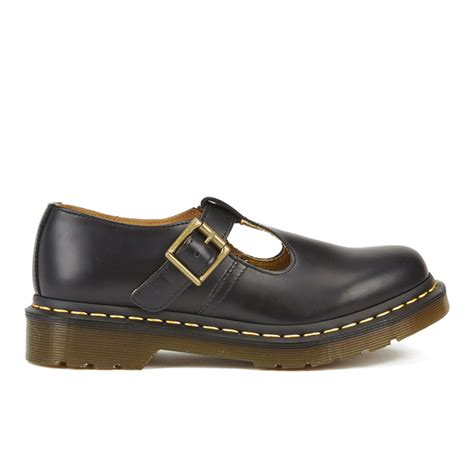 dr martens s polley smooth leather t bar flat
