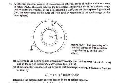 a spherical capacitor consists of two concentric a spherical capacitor consists of two concentric s chegg