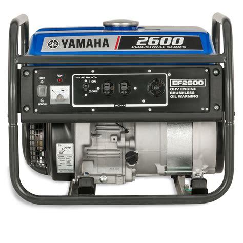 yamaha ef2600 2 600 watt gas powered portable rv home