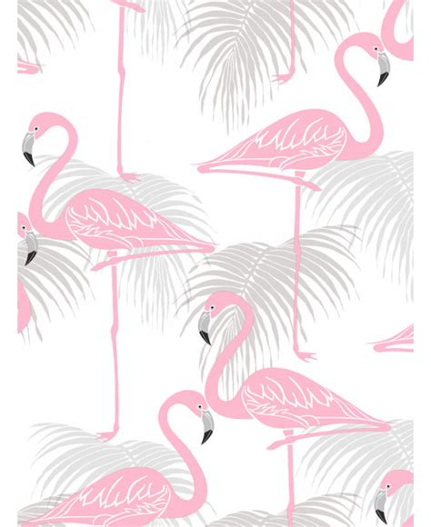 flamingo wallpaper grey flamingo and palm leaves wallpaper pink and grey fine