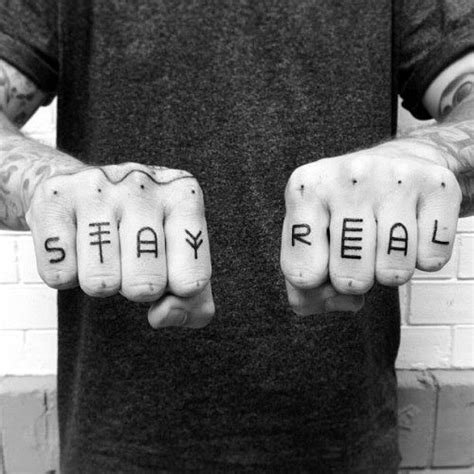 finger tattoo stay true top 100 best knuckle tattoos for men a fist full of ideas
