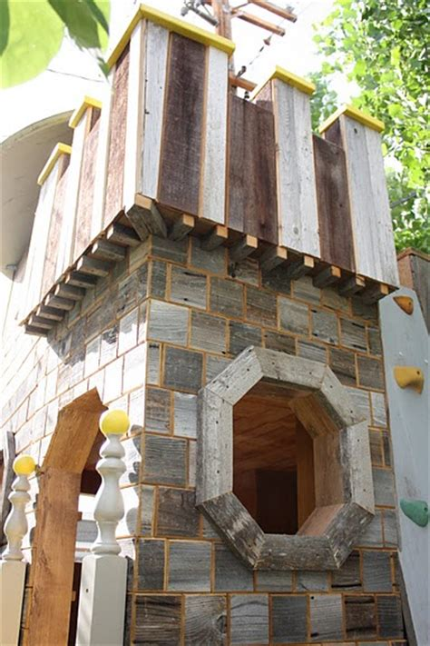 Handmade Wooden Playhouse - aplaceimagined castle playhouse