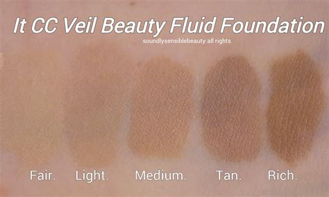 it cosmetics cc light vs medium it cc veil cushion foundation review swatches of shades