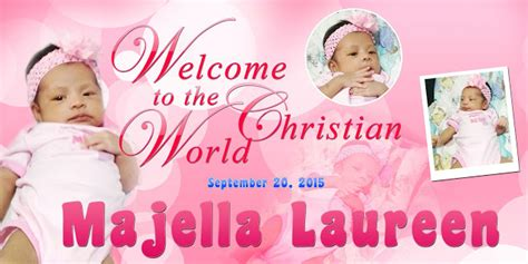 birthday tarpaulin layout design psd majellas christening template psd free psd design