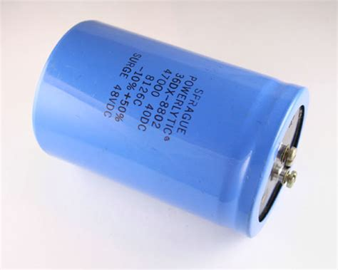 Capasitor Elco 10 000uf 100v 36dx473g040df2a sprague capacitor 47 000uf 40v aluminum