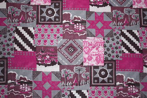 Patchwork Quilt Material - pink patchwork quilt fabric texture picture free
