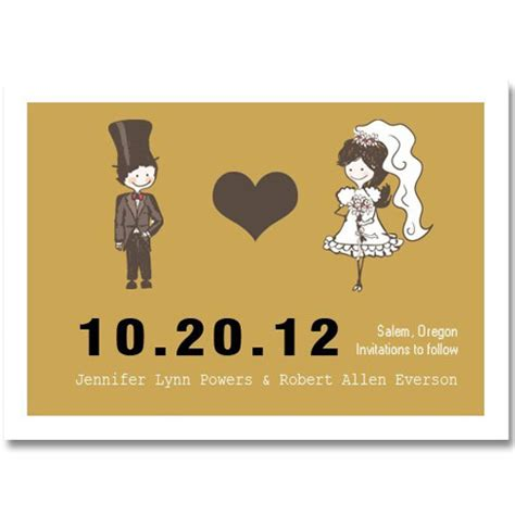 funny bride & groom save the date cards EWSTD021 as low as $0.60