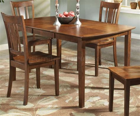 cherry finish modern dining table w optional side chairs