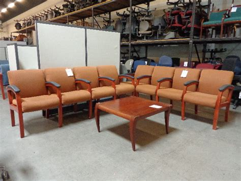 lobby bench seating used wood occasional tables arizona office furniture
