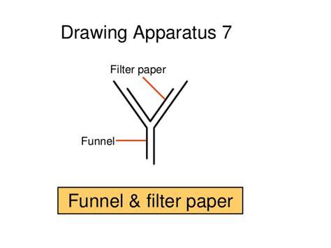 filter funnel diagram scientific drawings